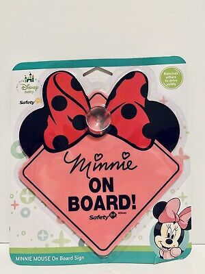 DISNEY BABY TODDLER MINNIE on BOARD! Safety SIGN NEW