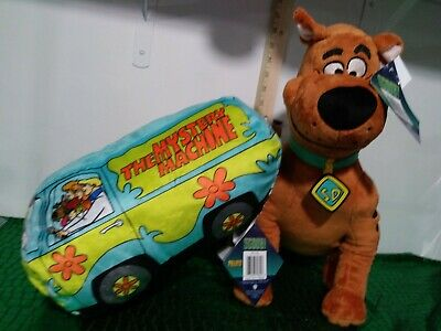 Scooby Doo Stuffed Animal Pillow  17 Inches Tall Mystery Machine plush lot of 2