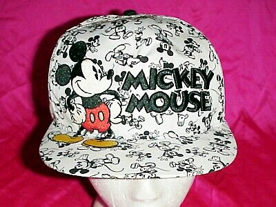 Disney Parks Classic Mickey Mouse Art 3-D Embroidered Baseball Cap Adult Hat