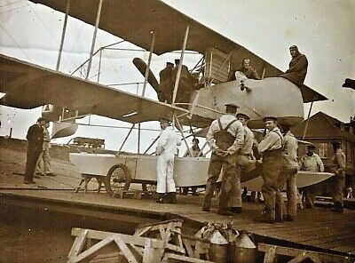 "ORIGINAL- WW1 GERMAN NAVY ""EXPERIMENTAL PUSHER SEA PLANE"" PHOTOGRAPH c1916"
