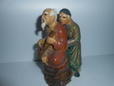 Chinese Oriental Old Men Ceramic Figure Ornament / 5*Conditions