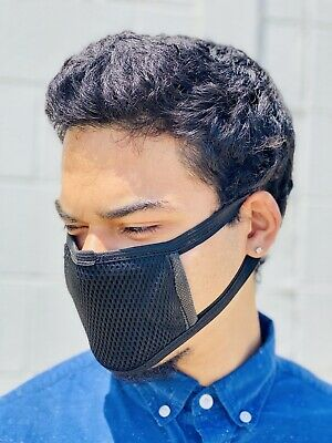 2X Brand New Fashion Mask Double Layer Filter - Black  Men and Women US Seller