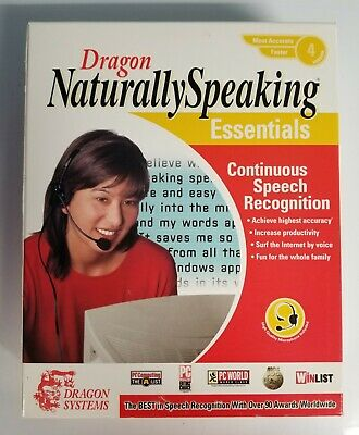 Dragon Naturally Speaking Essentials PC Software Sealed Rare Bundle + save!