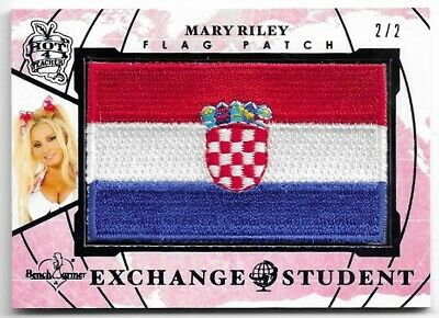 2020 Benchwarmer Hot For Teacher 5 Mary Riley Exchange Student Flag Patch /2 2/2