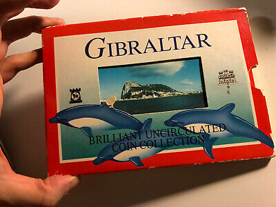 Gibraltar 1999 Mint Set 9 Coins With Rare 2 Pound