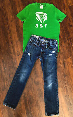 Abercrombie Fitch Shirt and Jeans Boys 10 Straight Leg