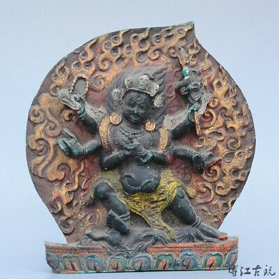 Collectable China Old Turquoise Hand-Carved Happy Buddha Luck Delicate Statue