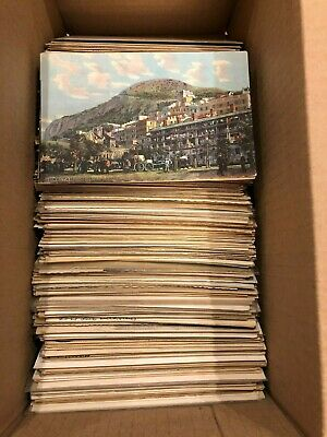Large Lot of 500+ Early & Mid-1900's International Postcards, includes RPPCs