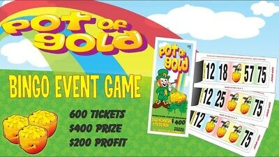 """""""Pot of Gold"""" Pull Tab Ticket, Bingo Play Along Game ($400)"""