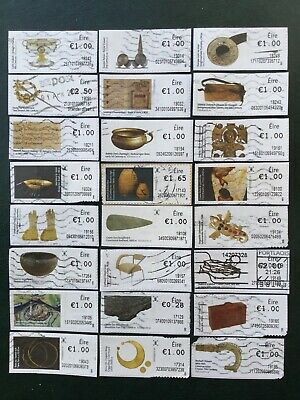 """Ireland. """"100 Objects"""" Series. Full Set To Date. As Illustrated. Fine Used."""