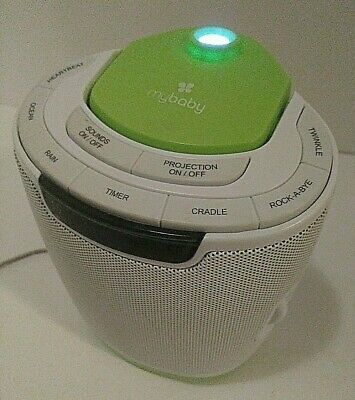 Homedics My Baby Sound Spa Lullaby Sounds and 3 Projection Tested Excellent Cond