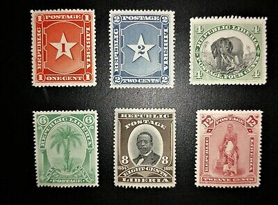 Liberia Stamps 1892, Unused Selection, SG75-80, Mint, LH