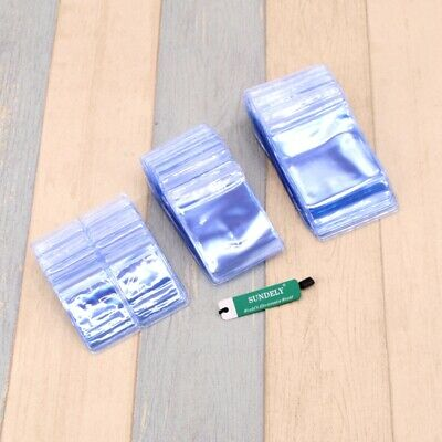 100 pcs Clear Plastic Coin Storage Wallets Envelopes Pack Fast Ship