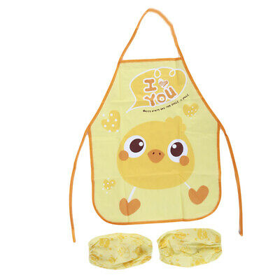 Drawing Jacket Apron Burp Cloths Infant Toddler With Oversleeve Baby Owl Bibs
