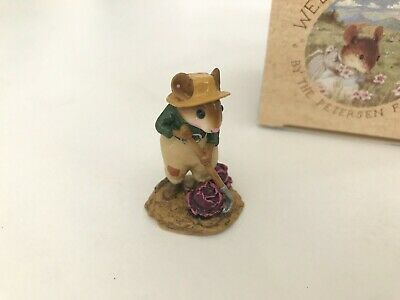 Wee Forest Folk M-238 HOE JOE, Purple Cabbage -  Retired, PRISTINE with Box