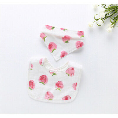 Lovely Bandana Cloth Baby Saliva Towel Adjustable Triangle Towel UShaped Bib