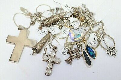 Collection Job Lot of 925 Jewellery Hall Marked Scrap Silver 88g - 203