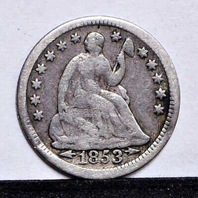 1853 Half Dime - With Arrows - VG Details (#30428)