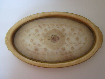 Antique Deco Celluloid Bakelite Oval Tray