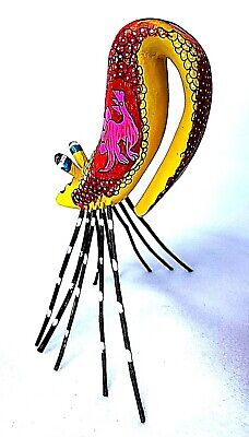 SHRIMP  Alebrije  Hand Crafted Oaxacan Wood Carving Oaxaca Mexico