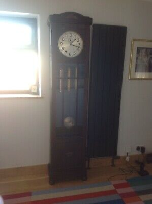 Longcase Art Deco Grandfather Clock 1930s Urgos