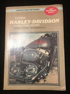 Clymer Harley Davidson 74 & 80 V-Twins • 1959-1979• Service Repair Manual