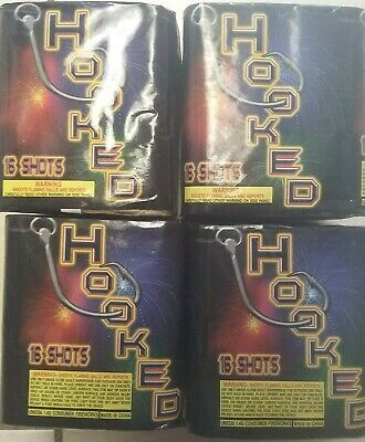 4x Hooked Firework Collectors Labels