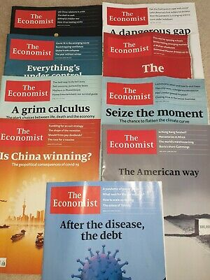 "The Economist Magazine x 9 ""LOCKDOWN"" Issues MINT condition"
