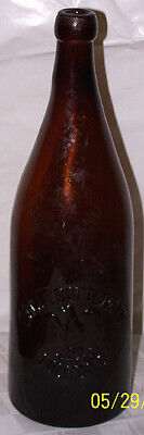 Antique Brown / Amber Eagle Bottling Co. Toledo, Ohio Beer Bottle