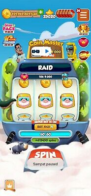 Coin master High Spins Account.