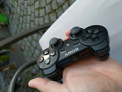 original Sony PS3 Dualshock 3 wireless Controller schwarz m. Vibration Top Zu.