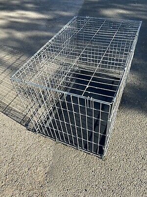 Two Door Medium Dog Cage Metal Crate In Good Used Condition In Box