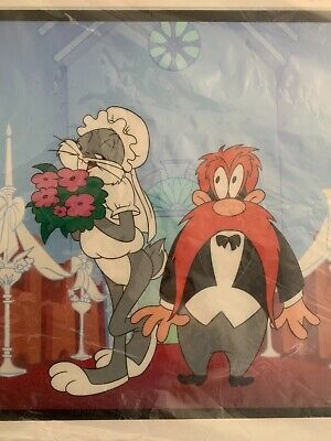 Warner Bros Cel For Better Or For Worse Bugs Bunny Yosemite Sam Rare LE 80/100