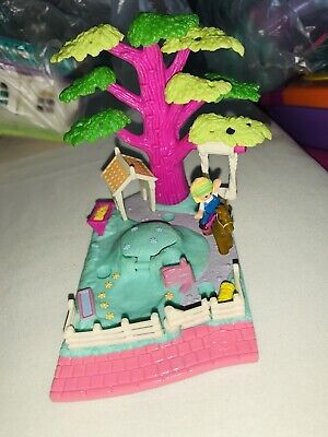 EUC 100% Complete Vintage Polly Pocket Shady Tree Playset 1994 (RARE VARIATION)