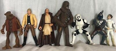 LOT OF 11 Star Wars ACTION FIGURES  =