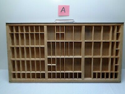 Vintage Printers Type Cabinet Drawer Tray Wood Miniatures thimble HAMILTON A