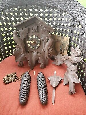 Vintage West German Cuckoo Clock Regula G.m.angem For Parts Non Working E2