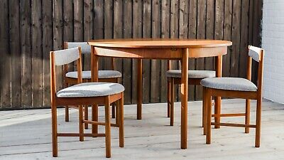 Mid Century Vintage A H Macintosh dining table and  chairs