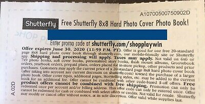 Shutterfly 8x8 Hardcover Photo Book Safeway Monopoly (Expires 6/30/2020)