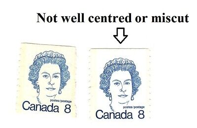 Canada Stamp #604 A292A Queen Elizabeth II (1976) 10 cent miscut misaligned