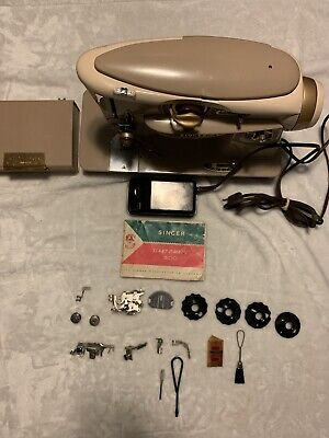 Singer Rocketeer 500A Slant-O-Matic Sewing Machine Vintage Serviced Accessories