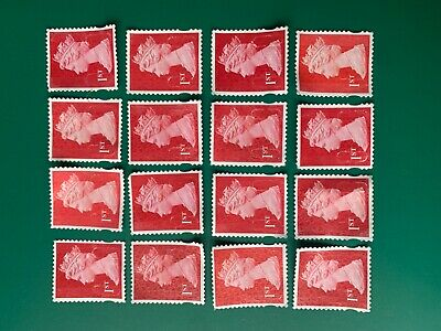 200 - 1st class unfranked stamps (red stamps / no gum/ no paper)