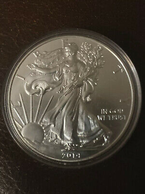 2014 1 oz. American Eagle  .999 Fine Silver Mint Condition In Sealed Capsule