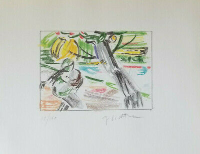 Roy Lichtenstein Hand Signed Color Drawing Numbered 17/150