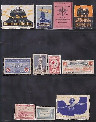 Old Aviation Zeppelin Mint Hinged Poster Stamp Collection