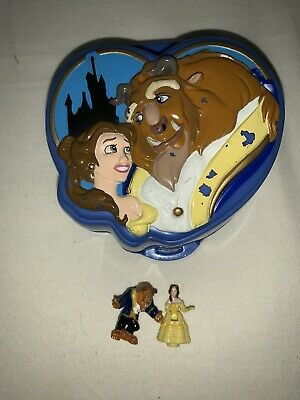 EUC 100% Vintage Disney Polly Pocket Beauty and the Beast Playcase 1995