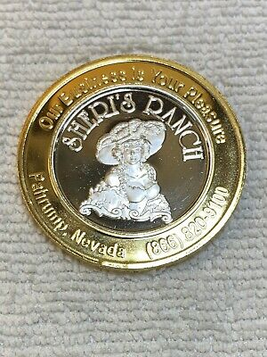 "Brothel Token-TRIAL- ""Sheri's Ranch""-.999 Silver-1/2 Ounce-Whorehouse/explicit"