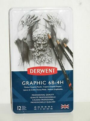 Derwent Graphic Pencil Set. B, HB, F, H, 2H, 3H, 4H, 5H, 6H, 7H, 8H and 9H 34213