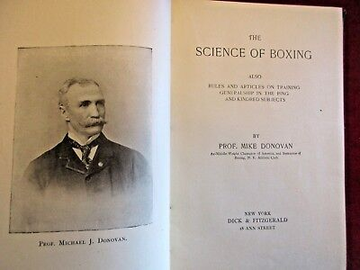 Rare Mike Donovan 1St Edition Science Of Boxing & Rules On Training 1893 Hardcvr