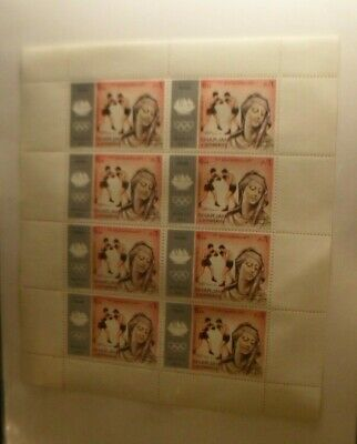 Sharjah full sheet of the Munich Olympics of 1972 MNH